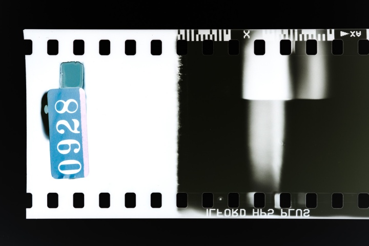 Partial film strip