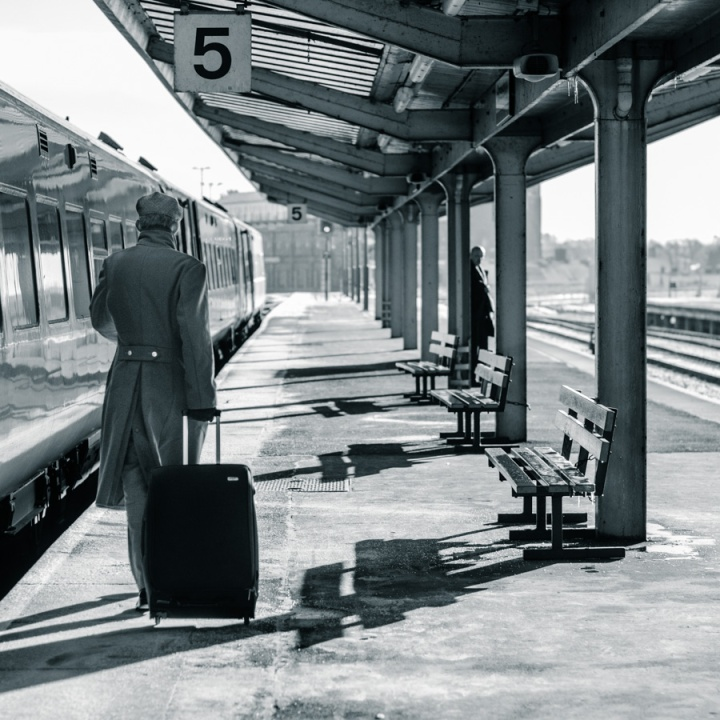 Cold morning on platform No. 5