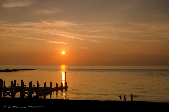 Sunset over the Irish sea from Aberystwyth